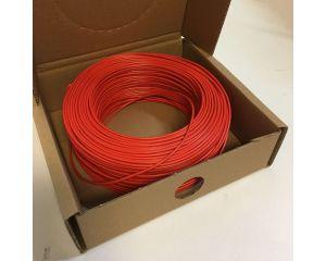 Monteringsledning blød H05V-K 1 x 0,5mm2 Rød