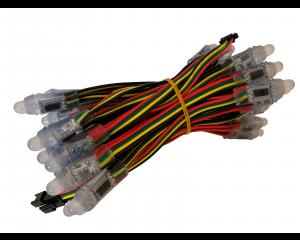 Lyskæde med 12mm 5V Digitale RGB LED Pixels - 50LED/Kæde - WS2801