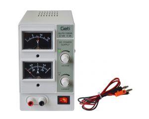 Laboratoriestrømforsyning Geti GLPS 1502A 0-15V 0-2A