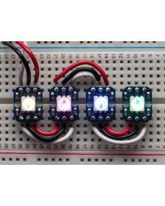 Breadboard-venlige RGB Smart NeoPixel - Pakke med 4
