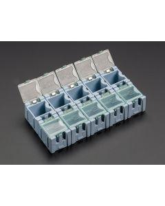 Små Modul Bokse - SMD Komponent Opbevaring - 10 styk - Blå