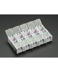 Små Modul Bokse - SMD Komponent Opbevaring - 3 styk - Hvid